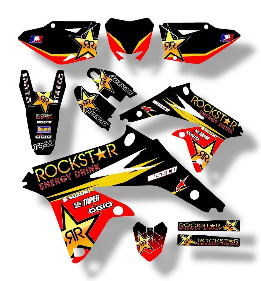 2010 2011 2012 rmz 250 graphics kit suzuki rmz250 10 11 for Stickers deco