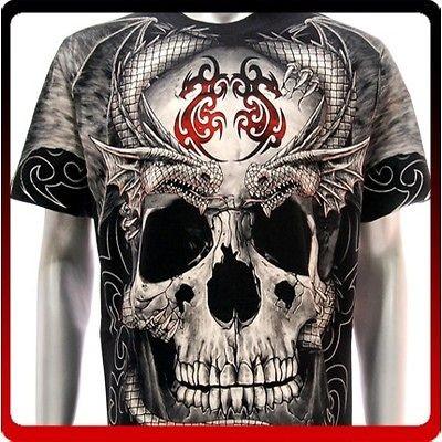 XXXL Rock Eagle T shirt Special Tattoo Skull Dark Magic Castle Fatboy