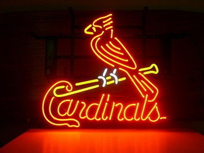 NEW WORLD SERIES CHAMPION ST LOUIS CARDINALS REAL NEON LIGHT BEER BAR