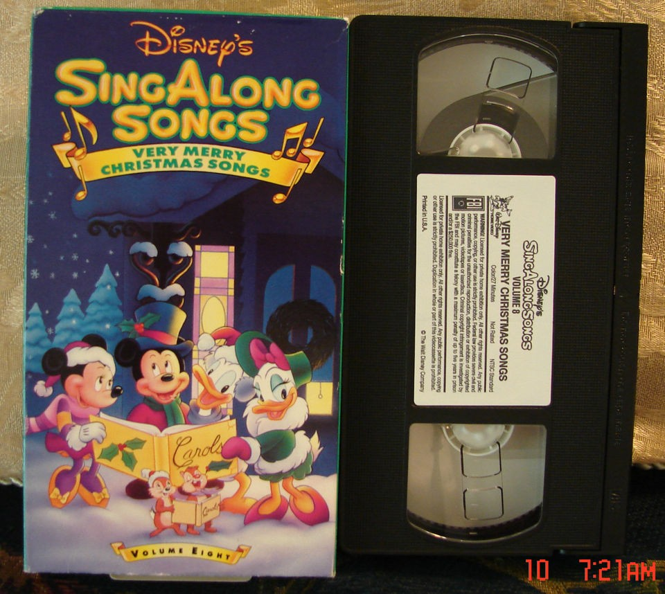 Disneys Sing Along Very Merry Christmas Songs Vhs Volume 8 FREE 1st