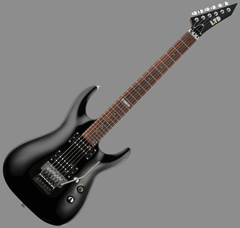 new esp ltd mh 50 blk black beauty strat electric guitar w floyd rose. Black Bedroom Furniture Sets. Home Design Ideas