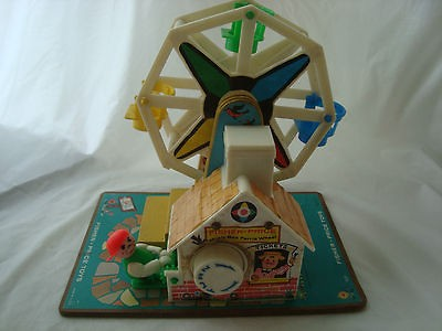Newly listed Fisher Price Music Box Ferris Wheel 1966 (turn dial does