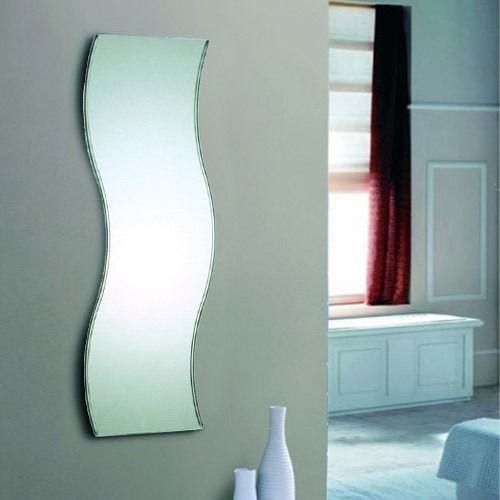 Silver Fitting Dressing Full length Wall Mirror YJ 53026 For Bathroom