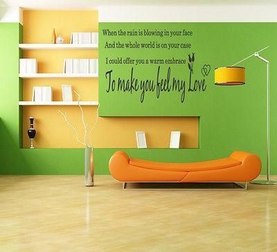 Make You Feel My Love Adele Song Lyrics Vinyl Wall Art Stickers