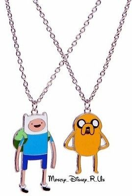 Time With Finn And Jake Charm Pendant Necklaces 2 Pack Best Friends
