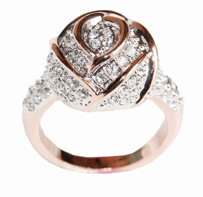 rose gold ring in Engagement Rings
