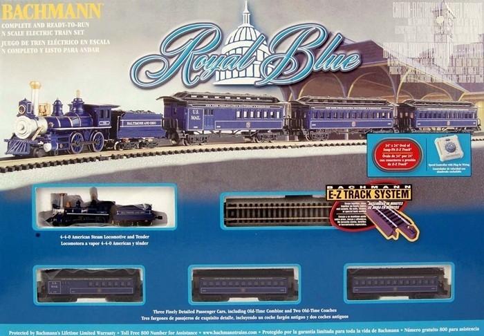 Bachmann n scale train set analog royal blue 24018