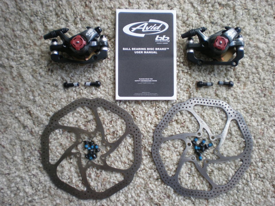 Avid BB7 Disc Brake F&R Set with Avid HS1 160mm Rotors~~NEW complete