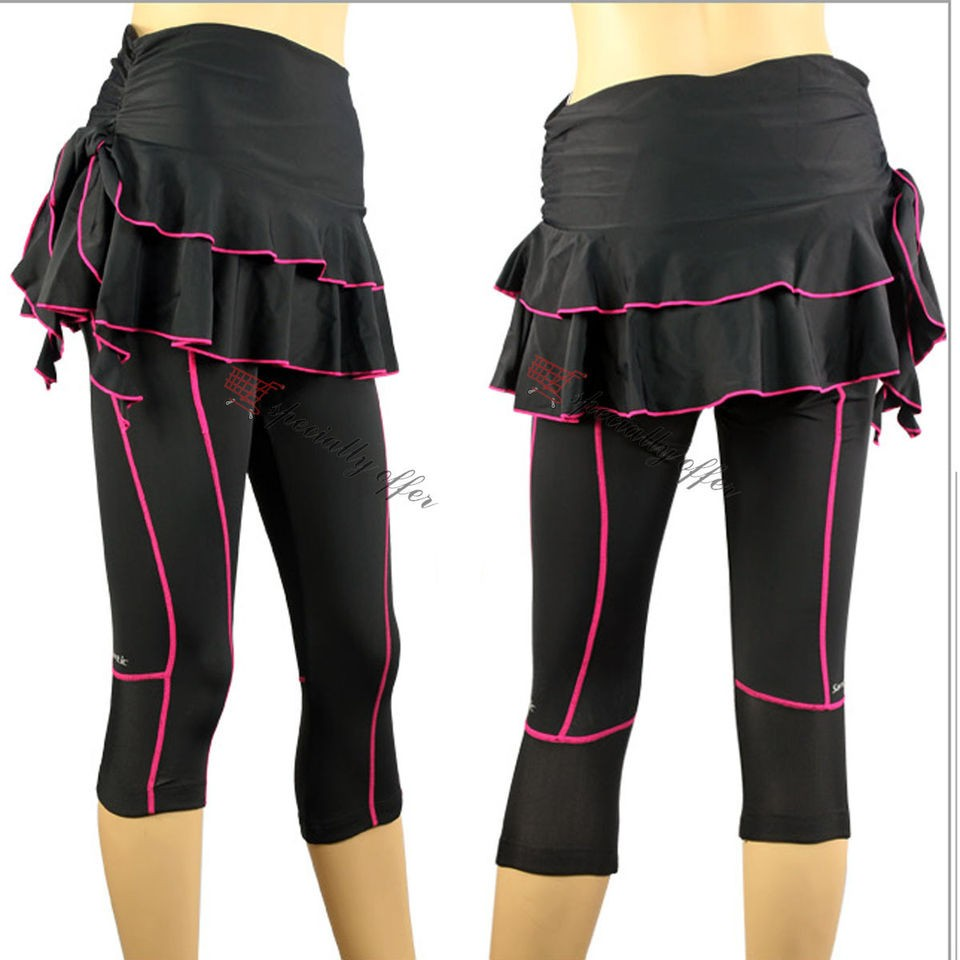 WOMEN GIRL BIKE CYCLING BICYCLE CAPRI SKIRT PANTS WEAR COOLMAX PADDED