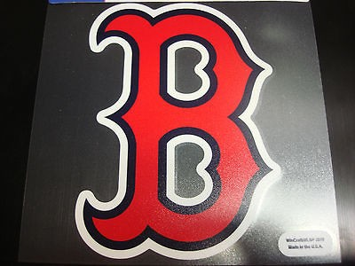 Boston Red Sox Colored Window Die Cut Decal Wincraft StickerCling 8x8