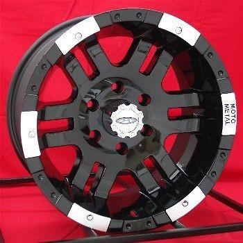 16 inch Black Wheels/Rims Chevy GMC 1500 6 Lug Truck
