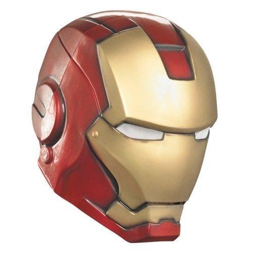IRON MAN The Avengers Adult Helmet Covers Full Head Marvel Comics