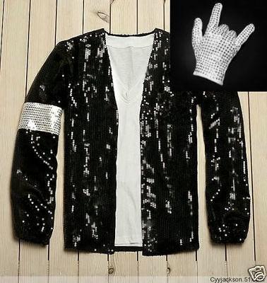 Michael Jackson Red Thriller Leather jacket Free Billie Jean GLOVE