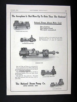 National Steam Pump Co Boiler Feed Plunger Hydraulic & Service Pumps