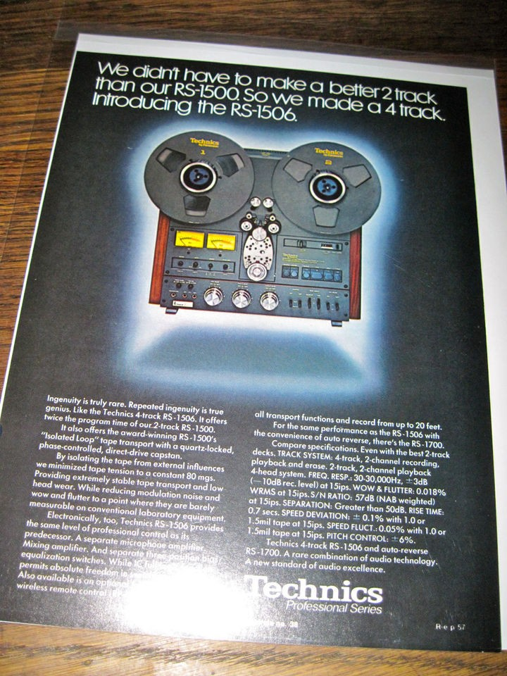technics rs 1500 in Reel to Reel Tape Recorders