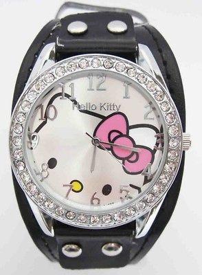 Piece Hello Kitty Swarovski Children Wrist Watch Fashion Clock A8