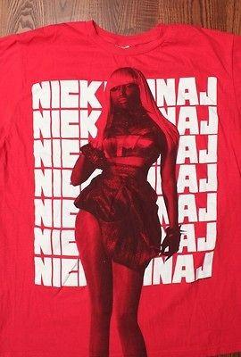 Nicki Minaj Pop Star Concert Tour Rock Music T Shirt Medium Red