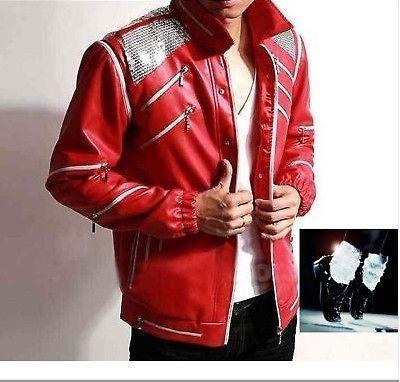 Michael Jackson Beat it Jacket Free Billie Jean Socks
