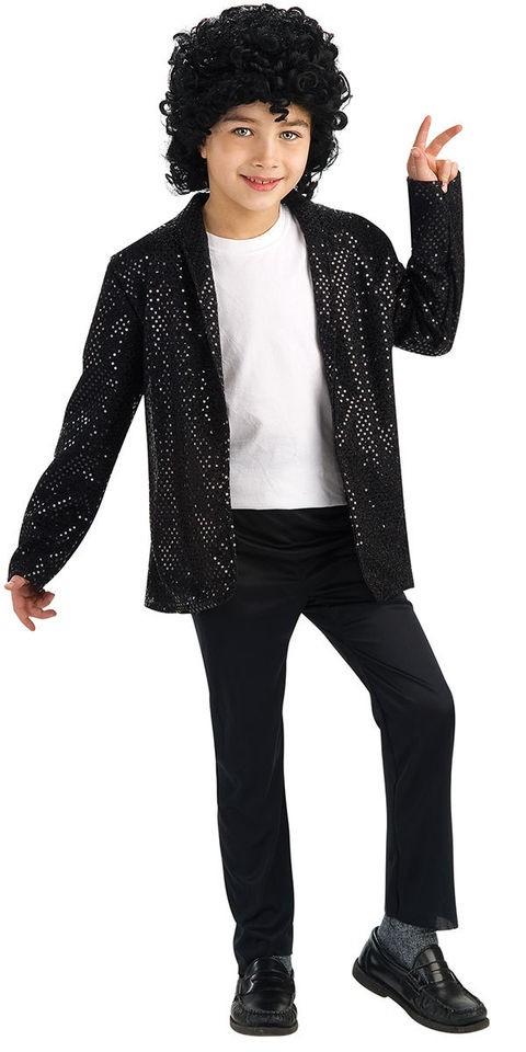 Boys Deluxe Black Michael Jackson Billie Jean Jacket Costume   Mich