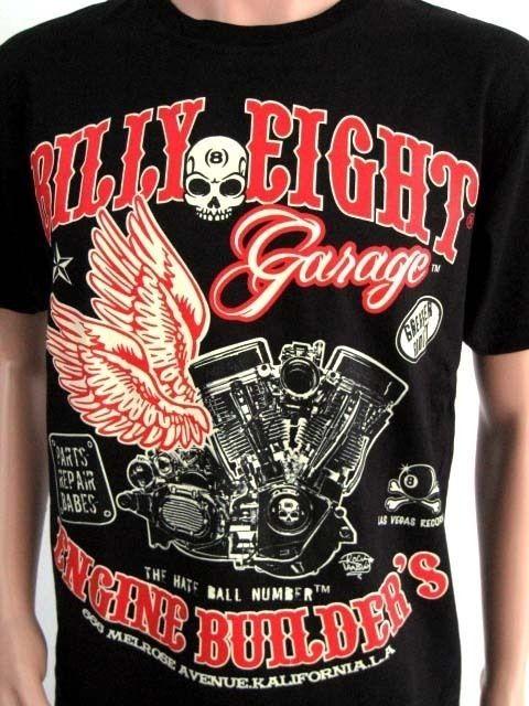 BILLY EIGHT VINTAGE MOTORCYCLE T SHIRT WEST COAST CHOPPER CUSTOM BIKE