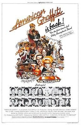 American Graffiti POSTER Ron Howard Harrison Ford Hot Rod Muscle Car