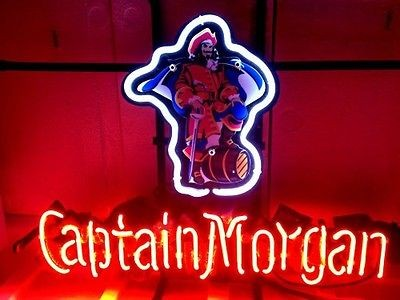 CAPTAIN MORGAN DISTILLERY BEER BAR NEON LIGHT SIGN me443