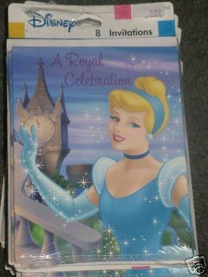 Disney Cinderella Princess Birthday Party Invitation