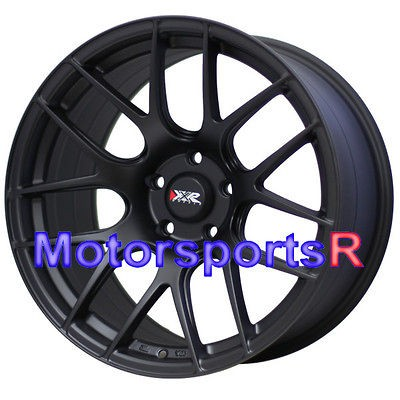 Flat Black Wheels Rims Concave Stanggered 98 04 Ford Mustang Cobra GT