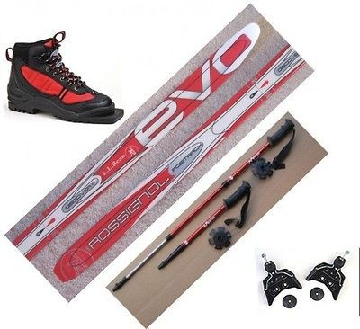 Kids 75mm Cross Country   110cm  SKIS/BINDINGS/BOOTS/POLES   No Wax