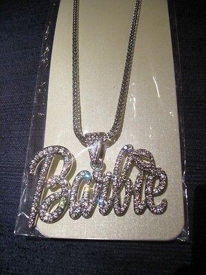 Nicki Minaj BARBIE Pendant Necklace *Hip Hop Bling*