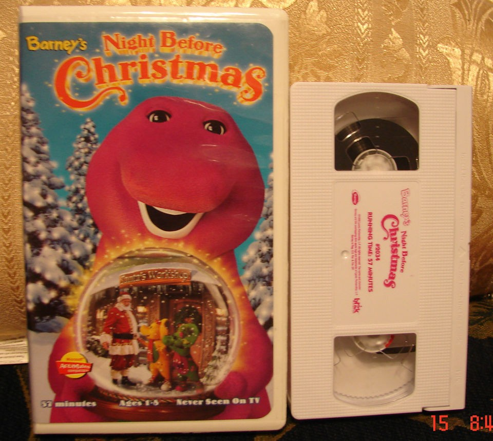 Before Christmas Vhs Video Spend Christmas Eve w/Barney BJ &SANTA