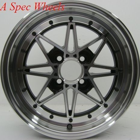 SA RACING WHEELS 4X100MM RIMS +40 FITS CIVIC INTEGRA XB CRX DELSO XA