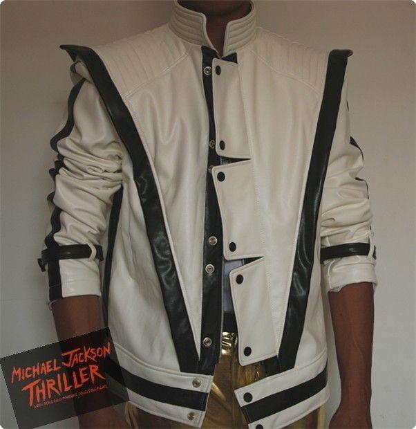 Michael Jackson Thriller Style White jacket Free Billie Jean Glove