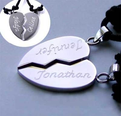 Necklace Best Friends with TWO OPTIONAL NAMES engraving
