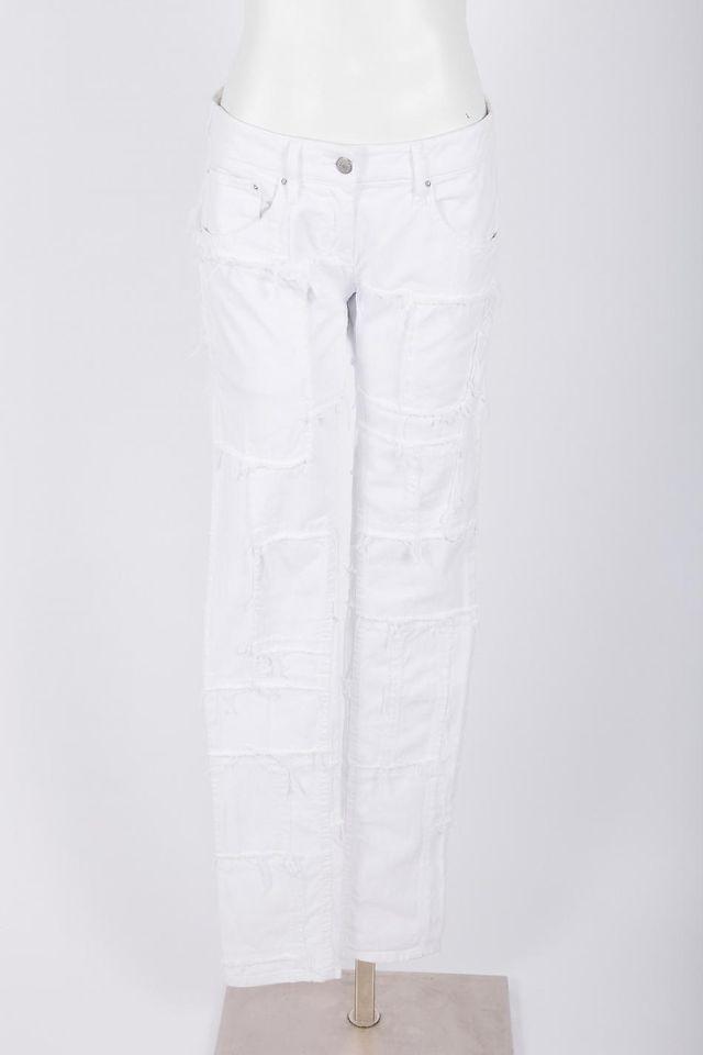 Isabel Marant NWT $815 White Denim Distressed Jeans SZ 2