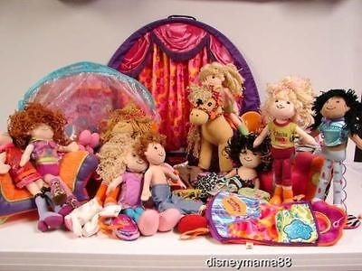 Large Lot Groovy Girls w/ 12 Dolls Stage Furniture Horse Car Canopy