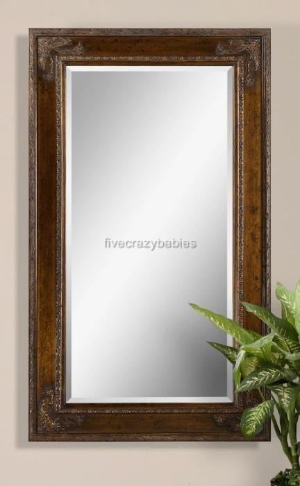 73 ORNATE DARK Wood Wall Mirror Extra Large Full Length Floor Leaner