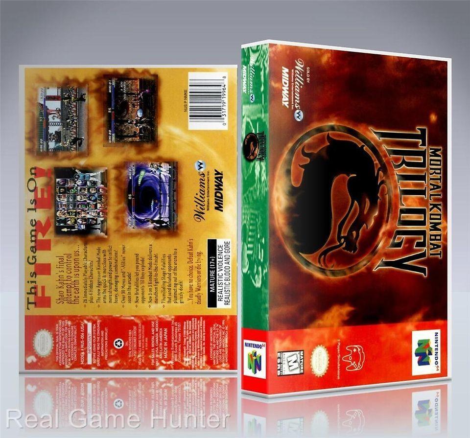 NO GAME) Nintendo 64 Case Mortal Kombat (Trilogy Edition