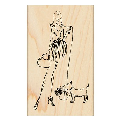 PENNY BLACK RUBBER STAMPS EVERY PETS DREAM DOG HAS GIFT SACK STAMP