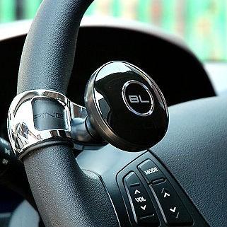 BlackLabel Steering Wheel Power Handle Safety Knob Clamp Spinner