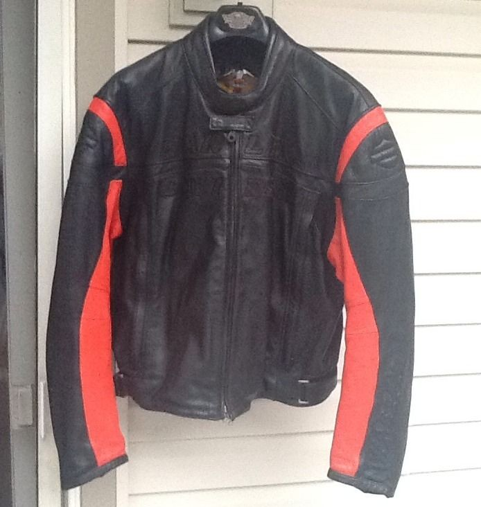 davidson leather racing jacket in Clothing,