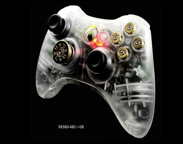 Xbox 360 Clear Bullet 70 Mode Prog Rapid Fire Controller Gears Of War