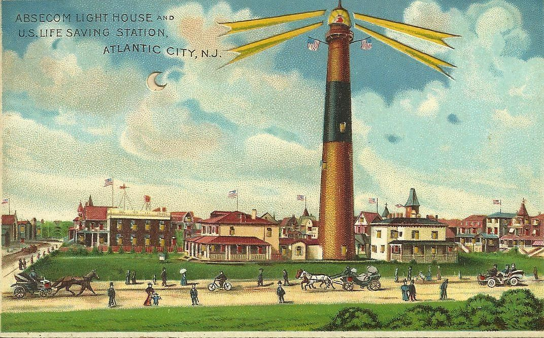 Antique L J Koehler HOLD TO LIGHT Absecon New Jersey Post Card