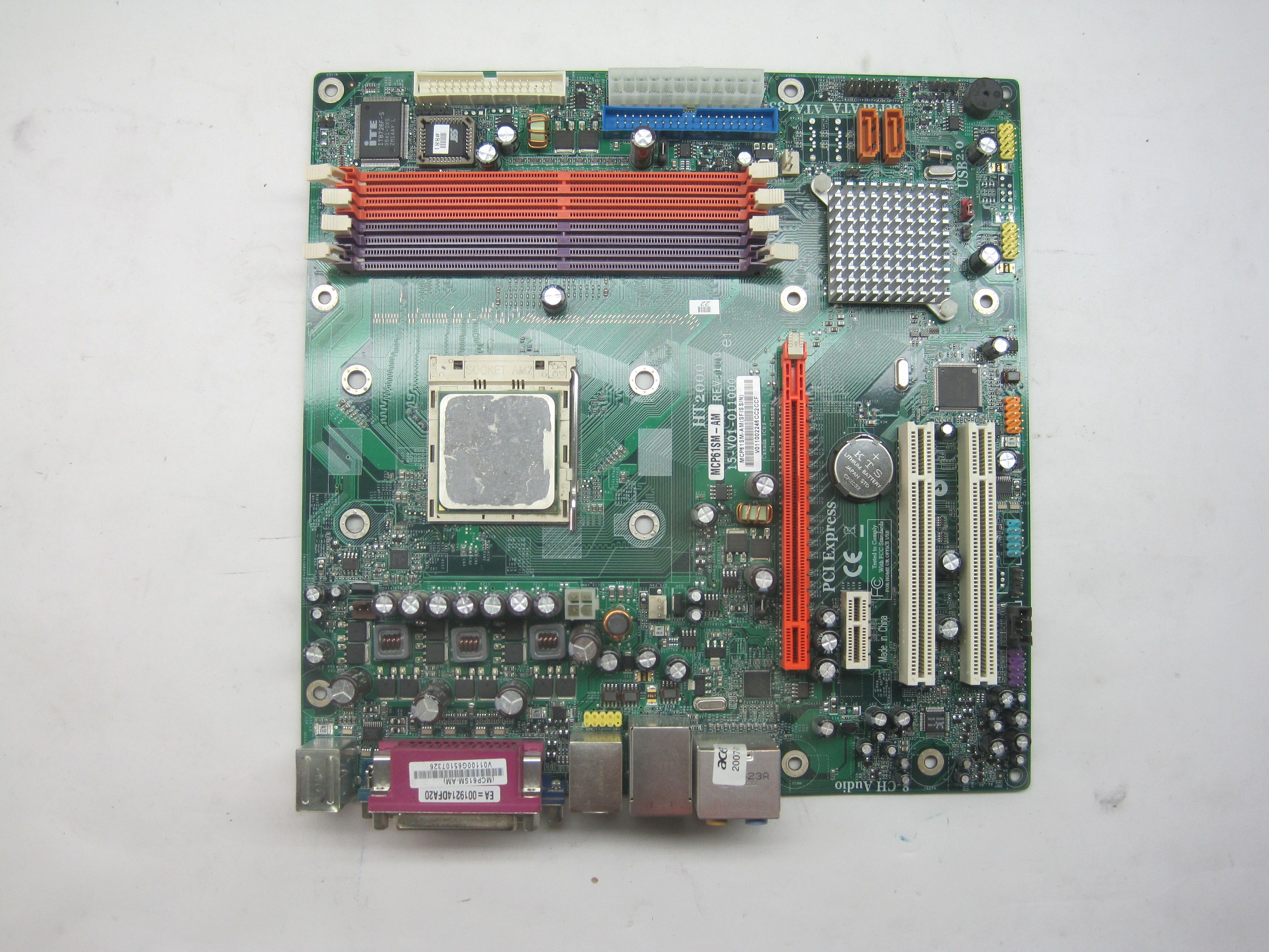 Acer Aspire E380 T180 Desktop Motherboard W Processor W