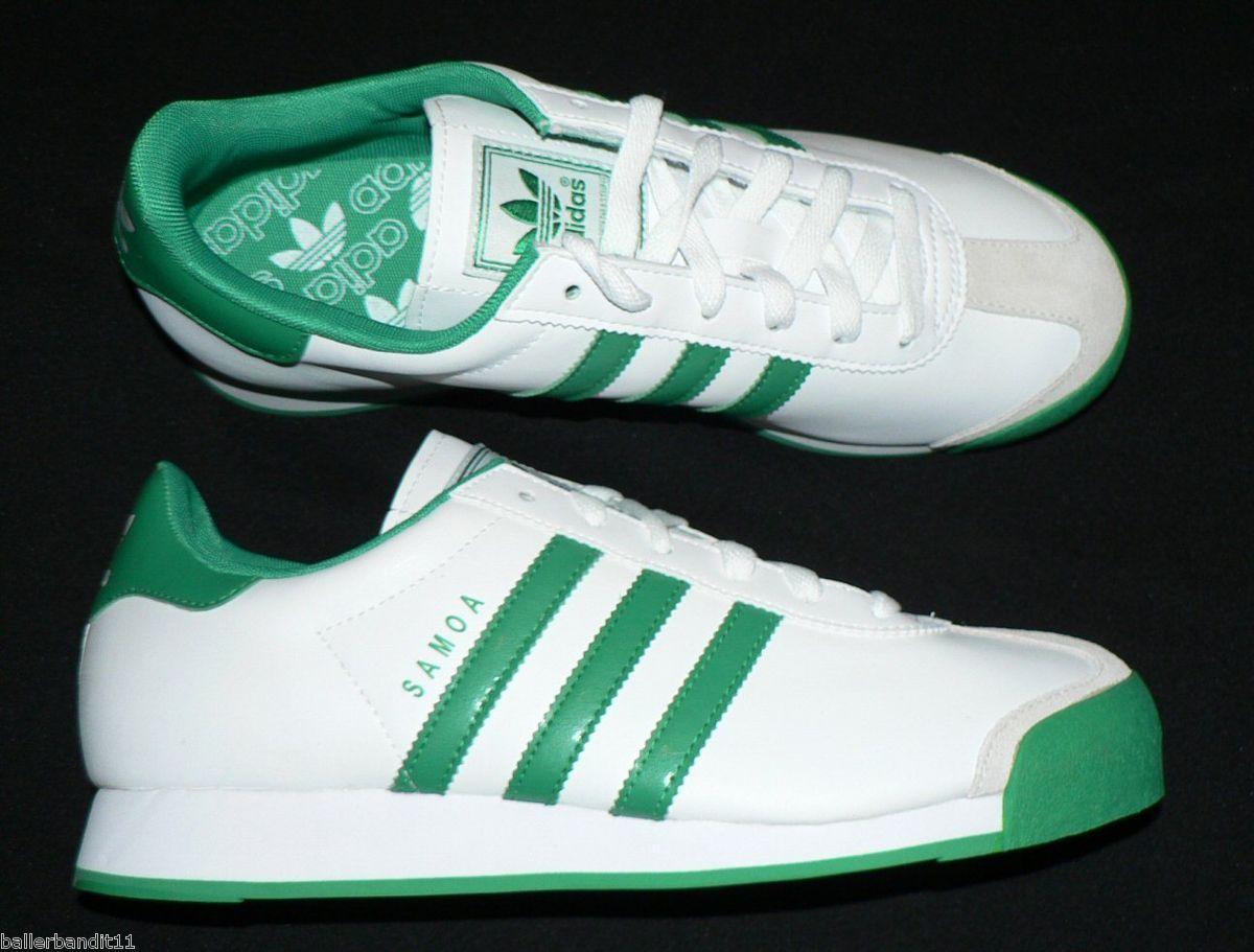 Adidas Samoa lea J zapatos Youth Boys Juniors nuevo blanco verde SG