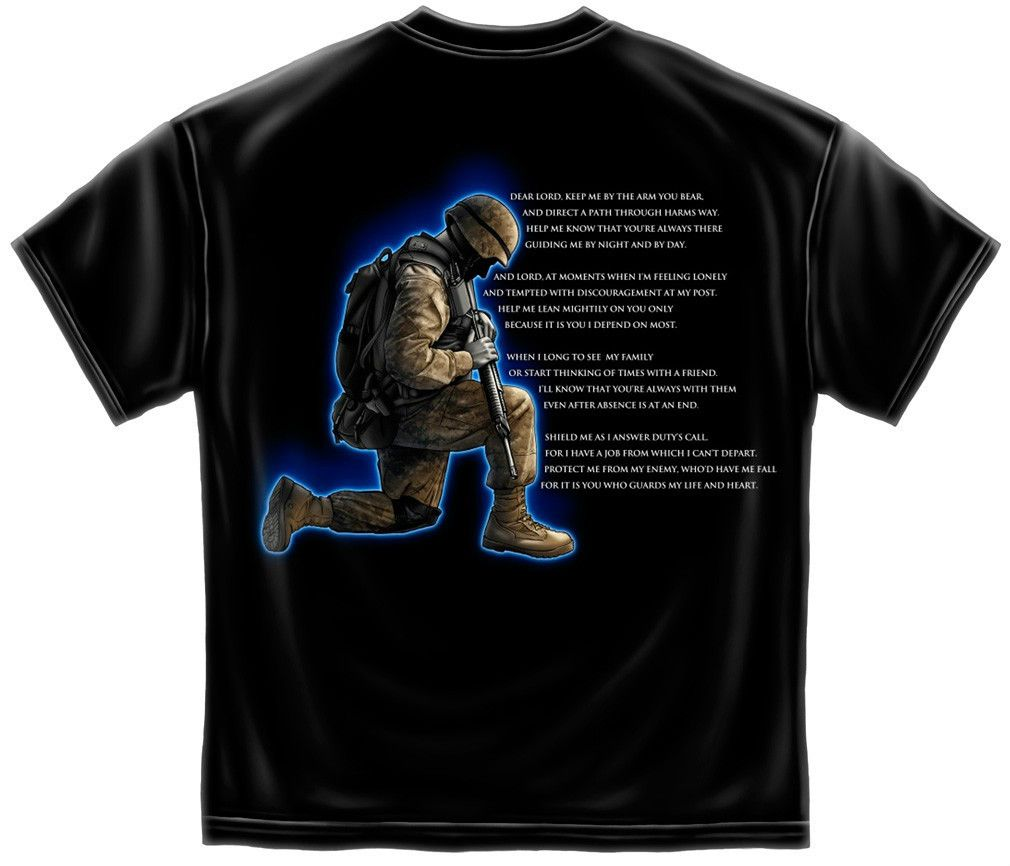 Soldiers Prayer Army Marines Navy Airforce Enlisted Men Combat Tshirt