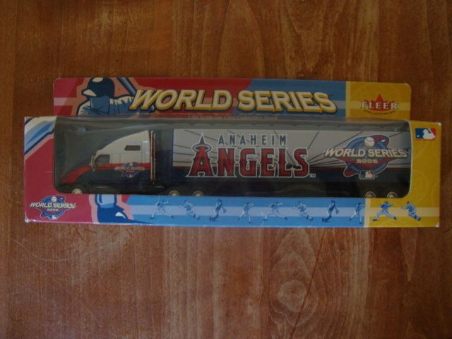 ANAHEIM ANGELS DIE CAST SEMI TRUCK TRAILER 2002 WORLD SERIES