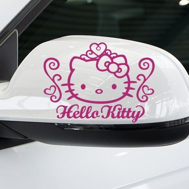 Pink Hello Kitty Car Rearview Mirror Decal Sticker 5 2X3