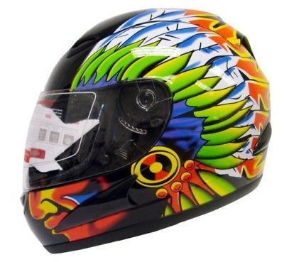 full face motorcycle sport bike helmet indian chief l one