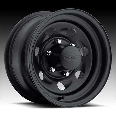 US Wheel 094 Series Stealth Vortec Black Steel Wheels 16x8 6x6.5 BC